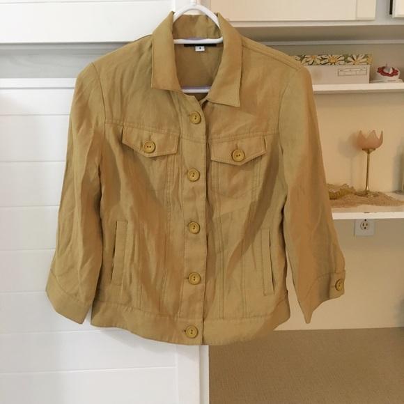 Vintage Mustard Blazer Jacket